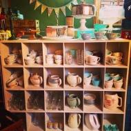 Tea cups, teapots